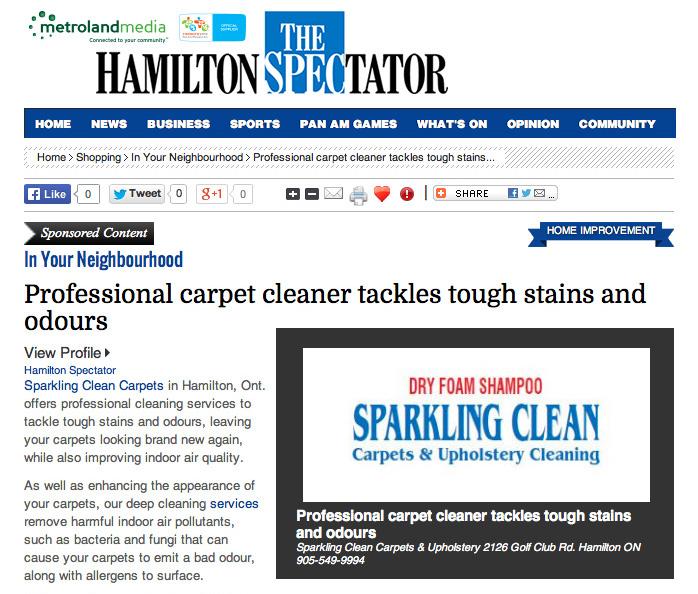 Carpet Cleaning Hamilton Ontario Dry Foam Carpet Cleaning